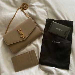 YSL uptown chain wallet